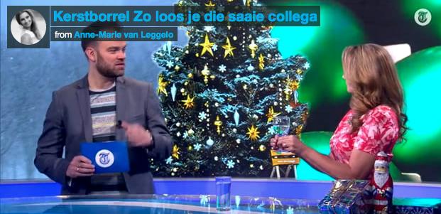 Telegraaf RTL4:  Kerstborrel, zo loos je die collega!